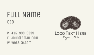 Herbs Spices Badge Business Card