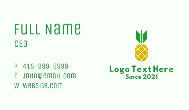 Pineapple Bomb Fruit  Business Card