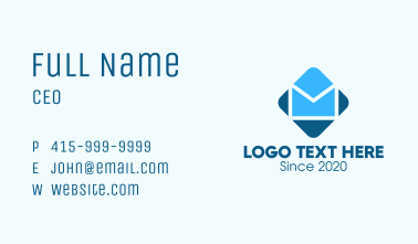 Blue Mail Envelope Business Card