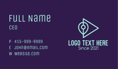 Location Pin Play  Business Card