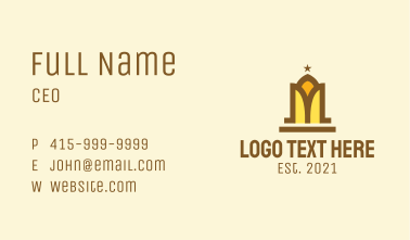 Mosque Letter M Business Card