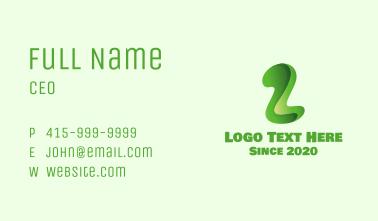 Green Letter Z Business Card
