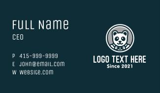 Formal Panda Mascot Business Card