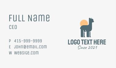 Little Llama Sunset Business Card