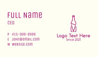 Wine Holder Bottle Business Card