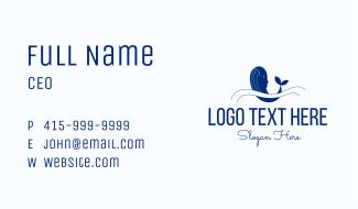 Blue Humpback Whale Business Card