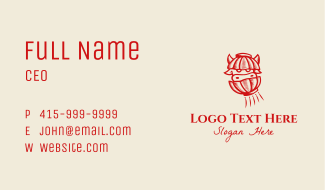 Red Chinese Ox Business Card