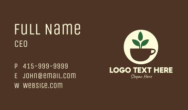 Herbal Tea Cup Leaves Business Card
