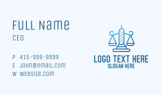 Blue City Justice Business Card