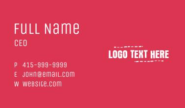 Yellow Green Grudge Wordmark Business Card