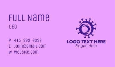 Purple Circle Virus Business Card