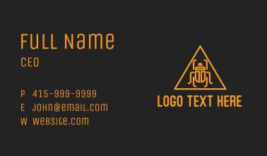 Orange Pyramid Beetle  Business Card