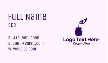 Eye Quill Ink Business Card