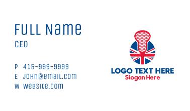 United Kingdom Lacrosse Business Card