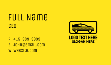 Black Checkerboard Taxi Business Card