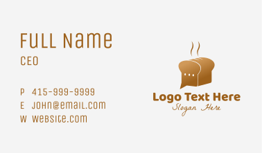 Bread Delivery Chat Business Card