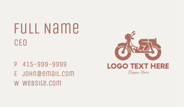 Brown Retro Scooter Business Card