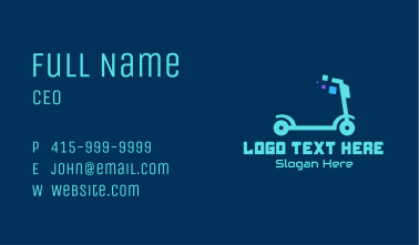 Electric Scooter Business Card