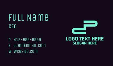 Blue Tech Letter DP Business Card