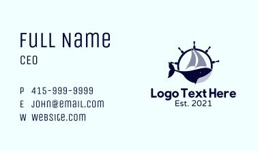 Whale Ship Wheel Business Card