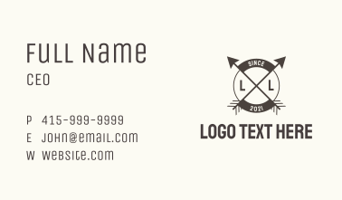 Artisanal Arrow Cross Business Card