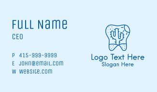 Desert Cactus Tooth Business Card