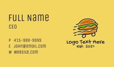 Fast Burger Restaurant  Business Card