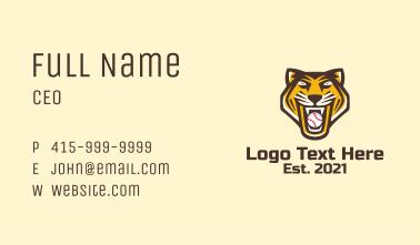 Tiger Baseball Team Business Card