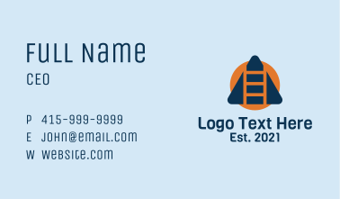 Building Construction Ladder Business Card