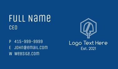 White Shovel Emblem Business Card