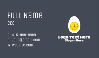 Egg Yolk Clock Business Card