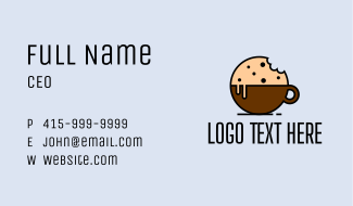Cookie Coffee Snack  Business Card