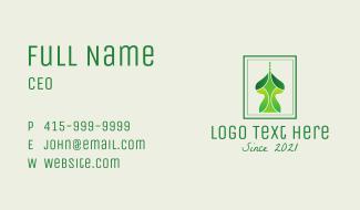 Green Arabian Structure  Business Card