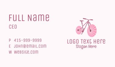 Pink Travel  Bike  Business Card
