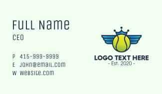 Tennis Crown Wings Business Card