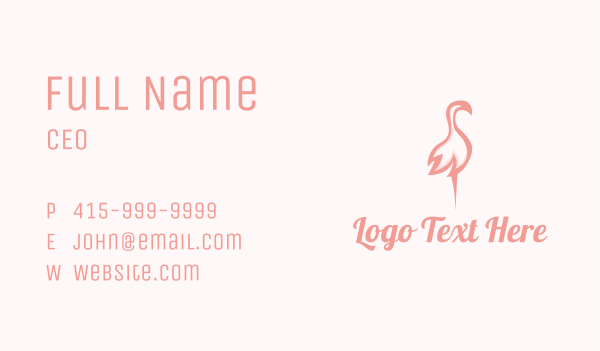 cosmetic - Pink Flamingo Beauty Business card horizontal design
