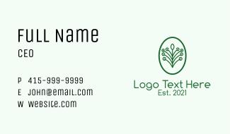 Green Plant Garden Business Card