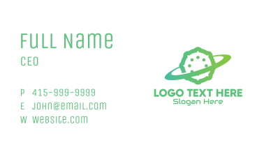 Green Virus Planet Business Card