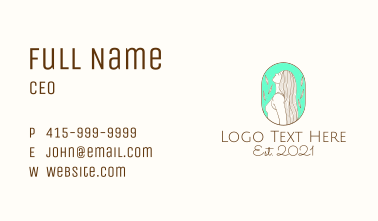 Woman Natural Spa Business Card