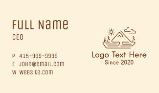 Mountain Landscape Monoline Business Card