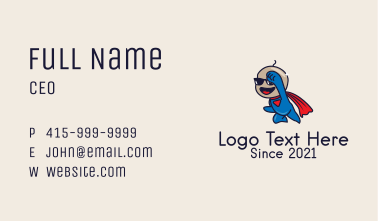 Superhero Baby Costume  Business Card