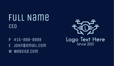 Drone Camera Letter Business Card