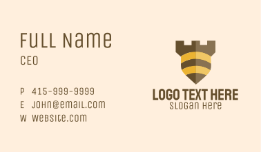 Bee Security Shield Business Card