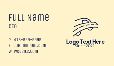 Blue Road Car Business Card