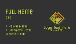 Diamond Textile Pattern  Business Card