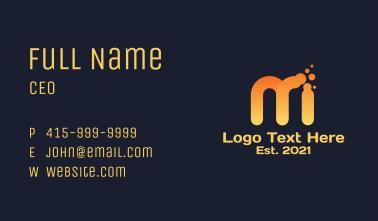 Dissolving Letter M  Business Card