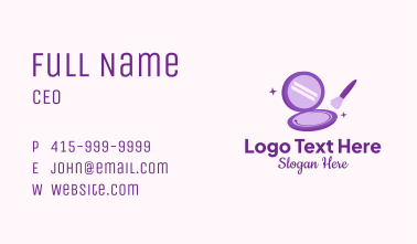 Beauty Makeup Product Business Card