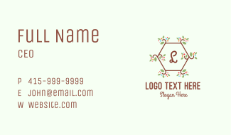 Natural Organic Letter Business Card