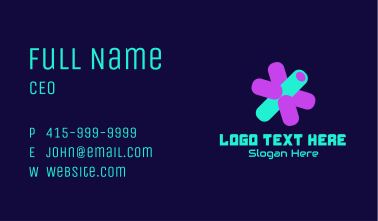 3D Isometric Asterisk Business Card