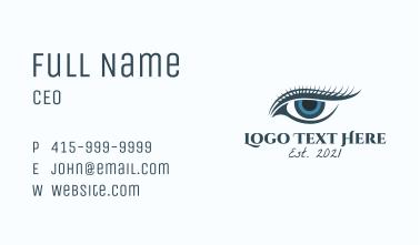Blue Eye Lashes  Business Card